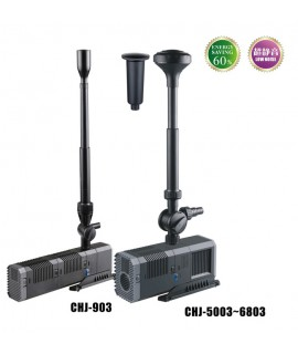 CHJ-5003 POMPA SOMMERSA 80W 5000L/H CON ACCESSORI FONTANA